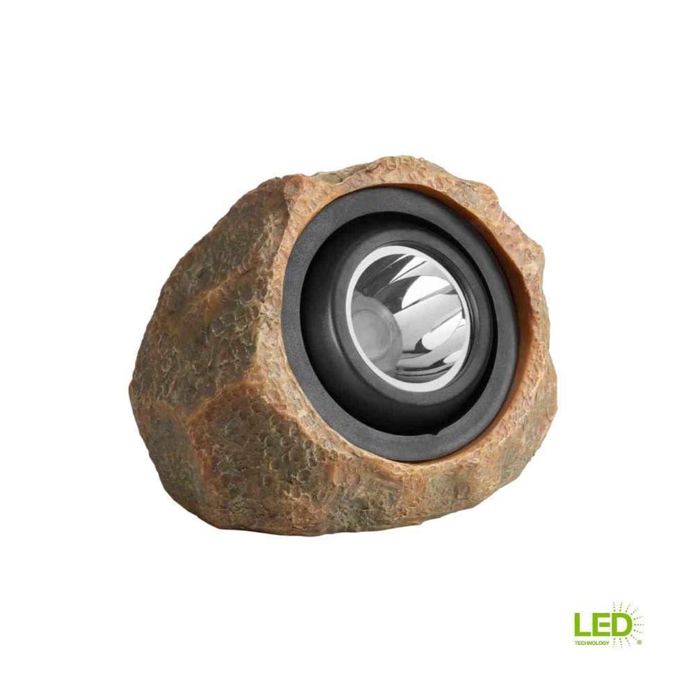 1-Light Solar Outdoor Integrated LED Rock Spot Light