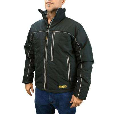 Men's XLarge 20-Volt MAX XR Lithium-Ion Black Quilted Soft Shell Jacket Kit with 2.0 Ah Battery and Adapter