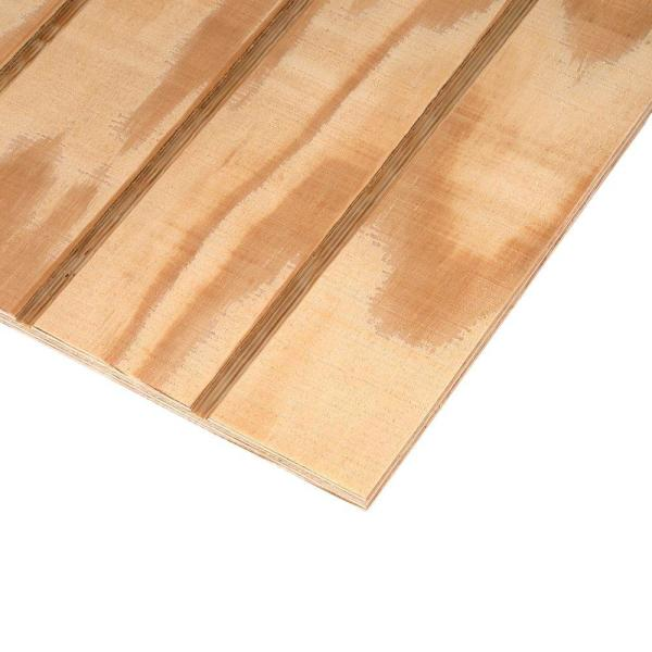 Unbranded Plywood Siding Panel T1 11 4 In Oc Nominal 19 32 In X 4 Ft X 8 Ft Actual 0 563 In X 48 In X 96 In 177189 The Home Depot