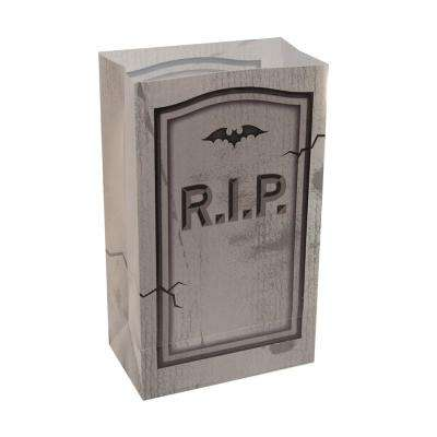 10 in. Tombstone Plastic Luminary Bags (12-Pack)