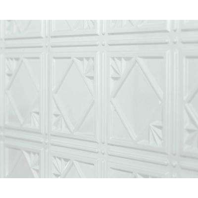 Artnouvo 18.5 in. x 24.3 in. PVC Backsplash Panel in Snow White