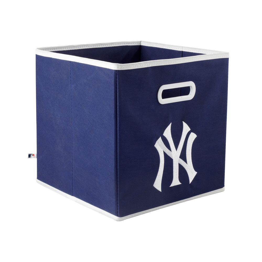 MyOwnersBox MLB STOREITS New York Yankees 10-1/2 in. x 10-1/2 in. x 11 in. Blue Fabric Storage Drawer