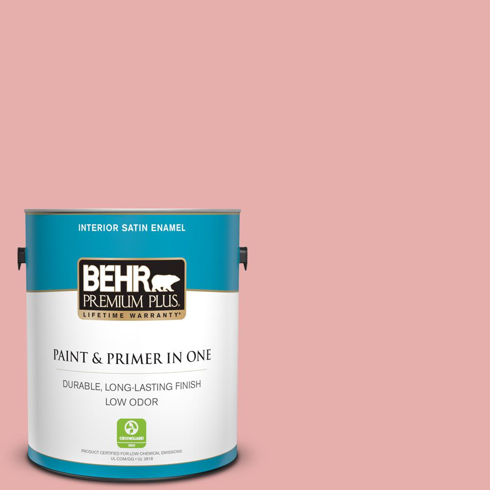BEHR Premium Plus 1 gal. #160C-3 Rose Silk Satin Enamel Low Odor ...