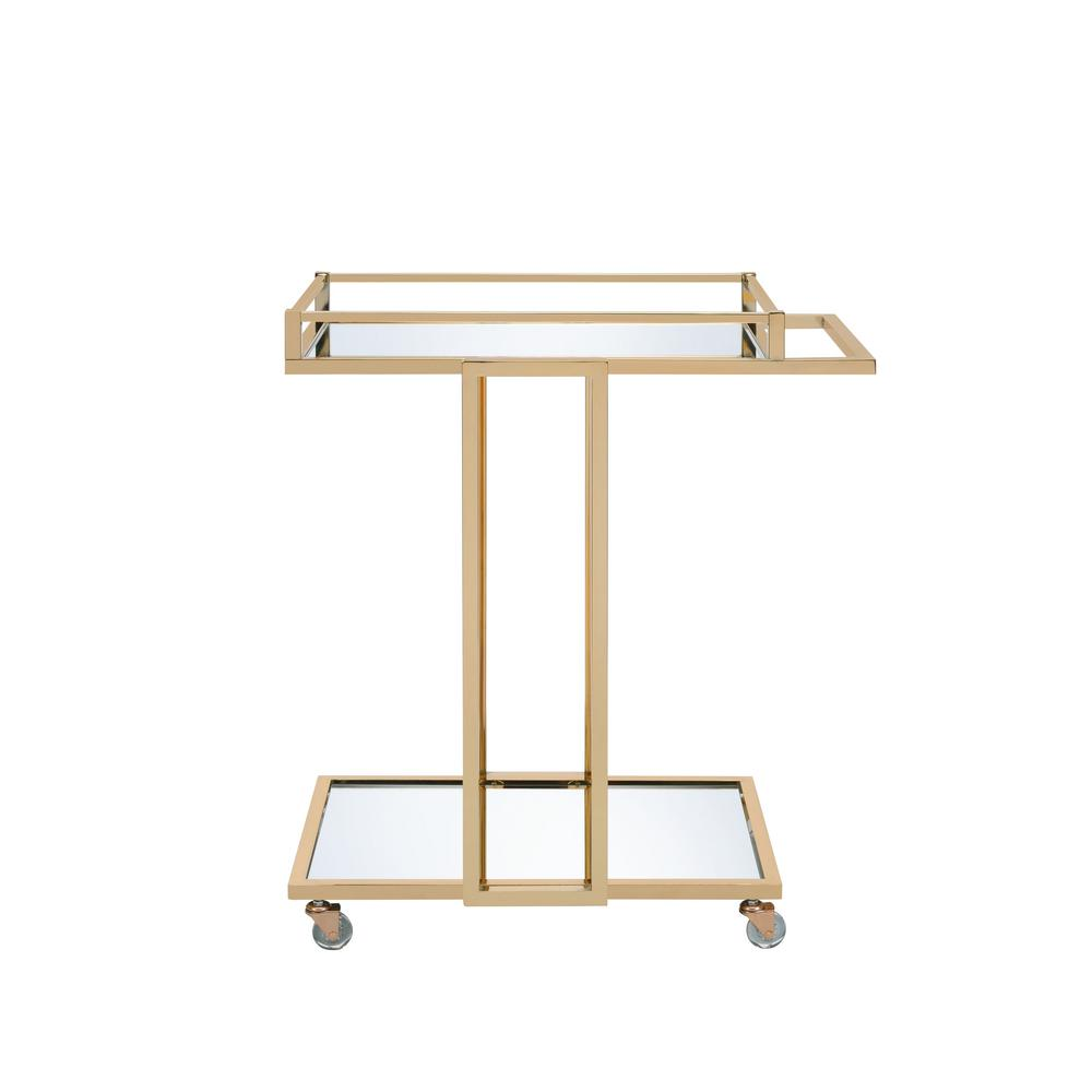 Mendes Gold and Mirror Serving Cart