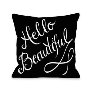 Click here to buy  Hello Beautiful and Stripes 16 inch x 16 inch Decorative Pillow.