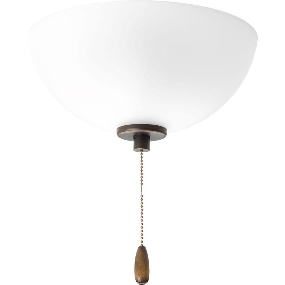 Gather Collection 2-Light Antique Bronze Ceiling Fan Light