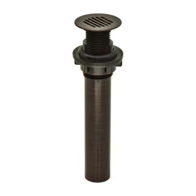 DecoDRAIN Grid Strainer Drain for Bathroom Vanity/Lavatory/Vessel/Sink, Body without Overflow in Oil Rubbed Bronze