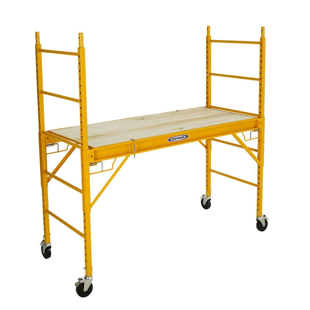 Werner 6 Ft Steel Rolling Scaffold 1000 Lbs Load Capacity Srs 72
