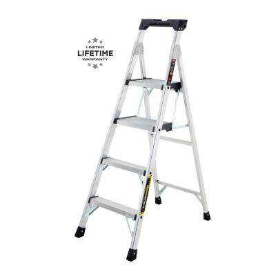 5.5 ft. Heavy Duty Aluminum PRO Hybrid Ladder with 300 lb. Load Capacity Type IA Duty Rating