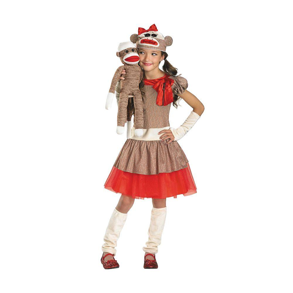 Disguise Girls Sock Monkey Costume  sc 1 st  Home Depot & Disguise Girls Sock Monkey Costume-DI38334_L - The Home Depot