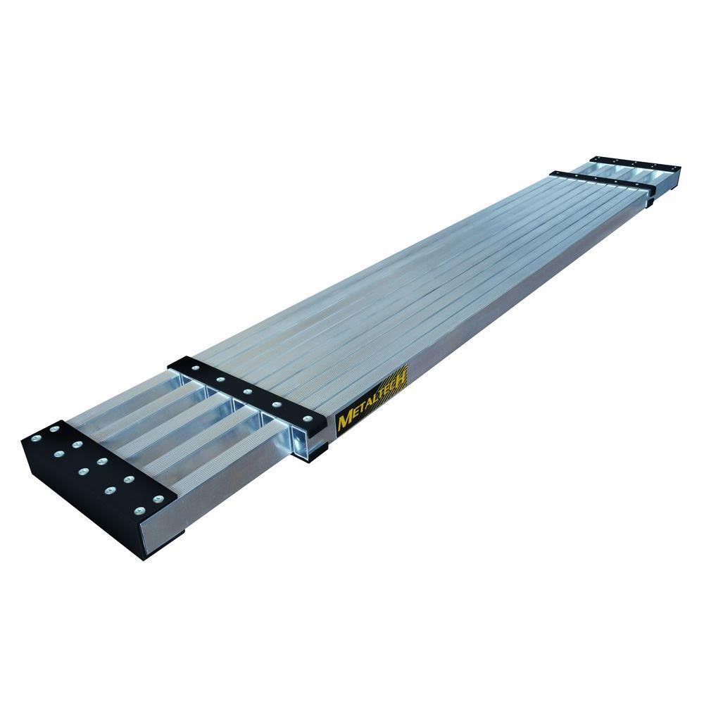 30 Foot Scaffolding : Metaltech ft aluminum telescoping work plank with