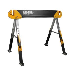 42.4 in. W Adjustable Height (25-32 in.) Steel Sawhorse and Jobsite Table – 1300 lb. Capacity