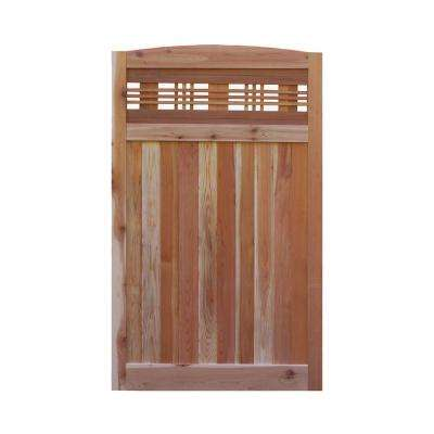 3.5 ft. H W x 6 ft. H H Western Red Cedar Arch Top Horizontal Lattice Fence Gate