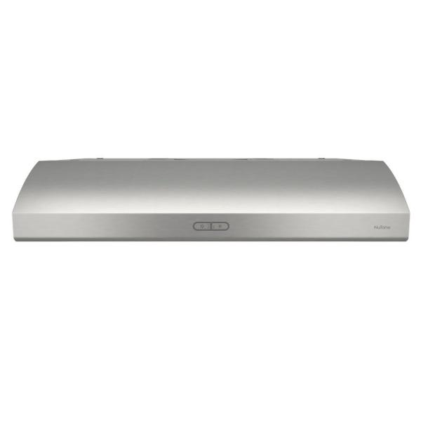 Osmos Deluxe 30 in. Convertible Under Cabinet Range Hood with Light in Stainless Steel