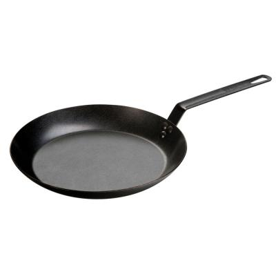 12 in. Carbon Steel Skillet in Black