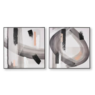 """31 in. x 31 in. """"Monochrome Radiance"""" Printed Canvas Wall Art"""