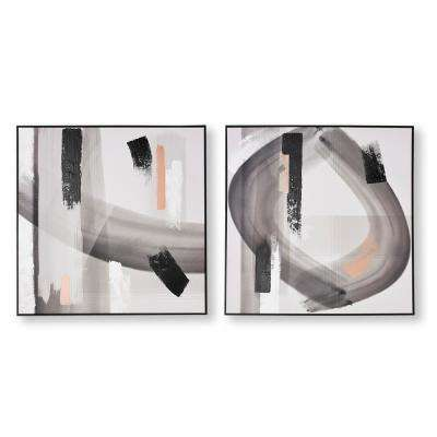 "31 in. x 31 in. ""Monochrome Radiance"" Printed Canvas Wall Art"