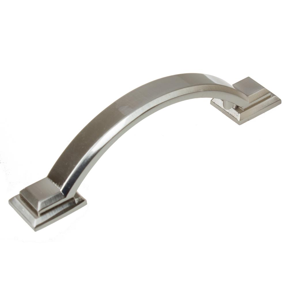 Awesome GlideRite 3 In. Satin Nickel Arched Square Cabinet Pull (10 Pack)