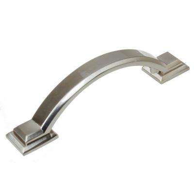 3 in. Satin Nickel Arched Square Cabinet Pull (10-Pack)