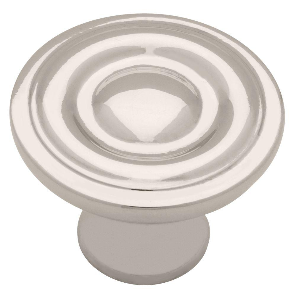 1-1/4 in. Polished Nickel Ring Round Cabinet Knob