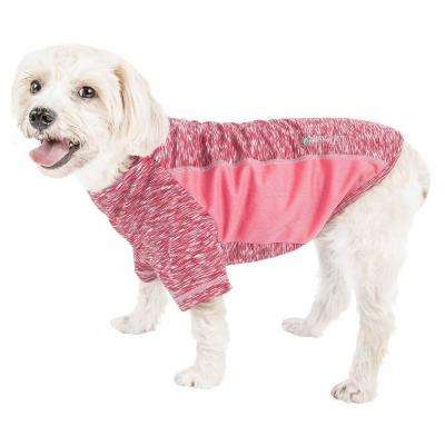 Large Pink Active Warf Speed Ultra-Stretch Sporty Performance Dog T-Shirt