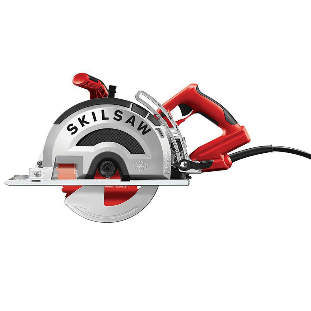 SKILSAW 15 Amp Corded Electric 8 in. OUTLAW Worm Drive Saw for Metal with 42-Tooth Diablo Cermet-Tipped Blade