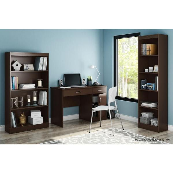South Shore Axess Chocolate Workstations with Storage 7259070
