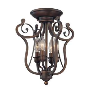 Millennium Lighting 4 Light Rubbed Bronze Candle Semi Flush Mount Light 1144 Rbz The Home Depot
