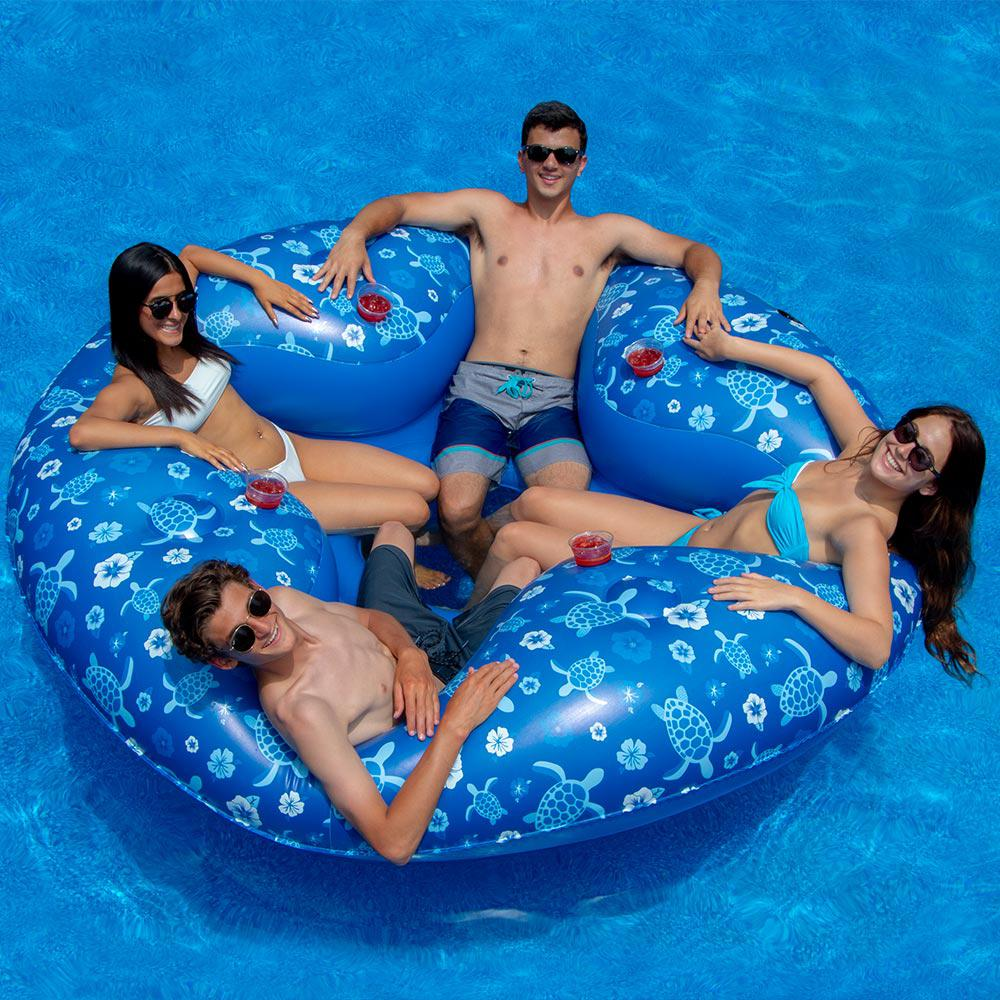Swimline Tropical 4-Person Lounger Pool Float