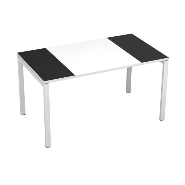 undefined Paperflow easyDesk White Middle with Black Ends 55 in. Long Training Table