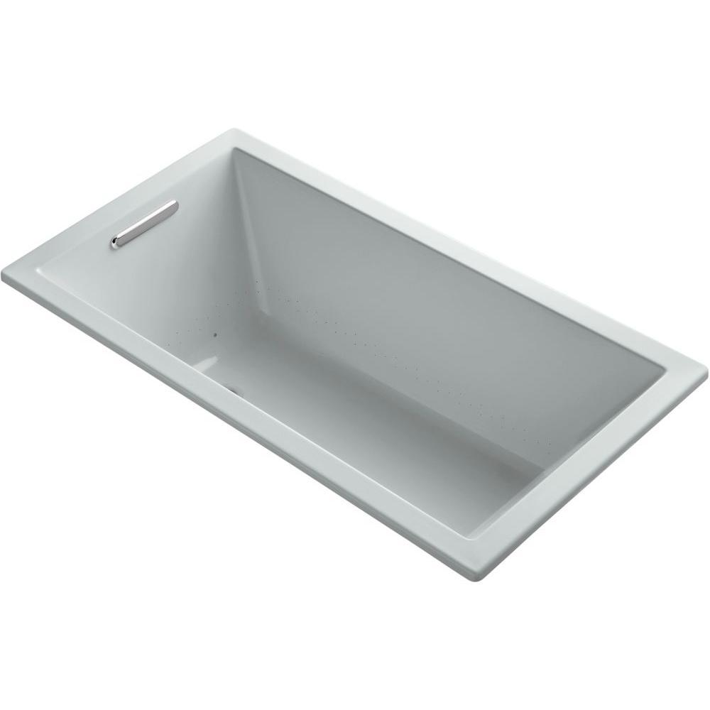 KOHLER Underscore 5 ft. BubbleMassage Air Bath Tub in Ice Grey