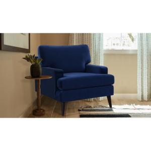 Jennifer Taylor Enzo Navy Blue Lawson Accent Chair 63330-1 ...