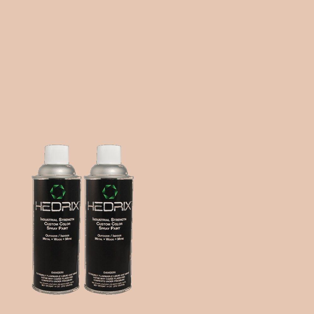 Hedrix 11 oz. Match of PPU2-7 Coral Stone Flat Custom Spray Paint (8-Pack)