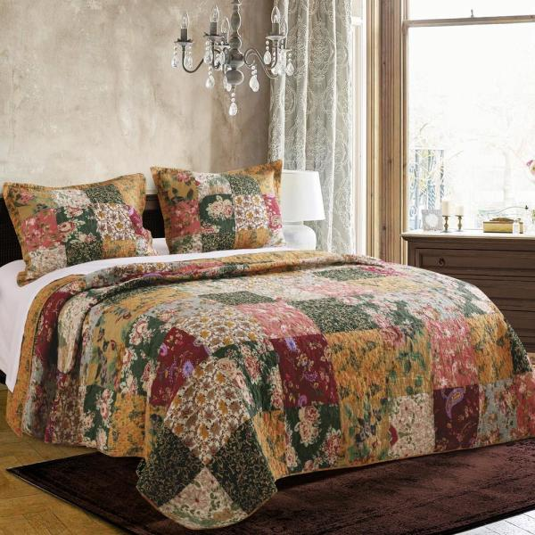 Greenland Home Fashions Marley Quilt Set 3 Piece King Gl