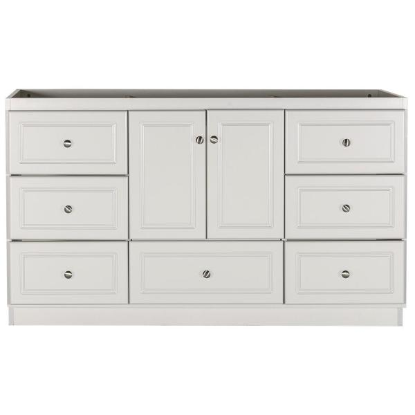 Ultraline 60 in. W x 21 in. D x 34.5 in. H Bath Vanity Cabinet Only with Center Basins in Dewy Morning