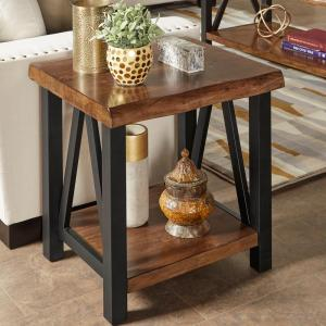 Superior Internet #301373472. HomeSullivan Barnard Brown Live Edge End Table