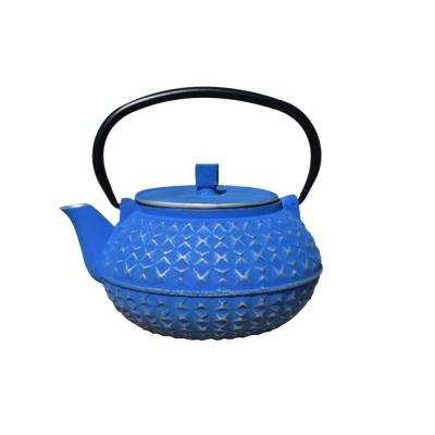 Yorokobi 4-Cup Teapot in Blue and Silver