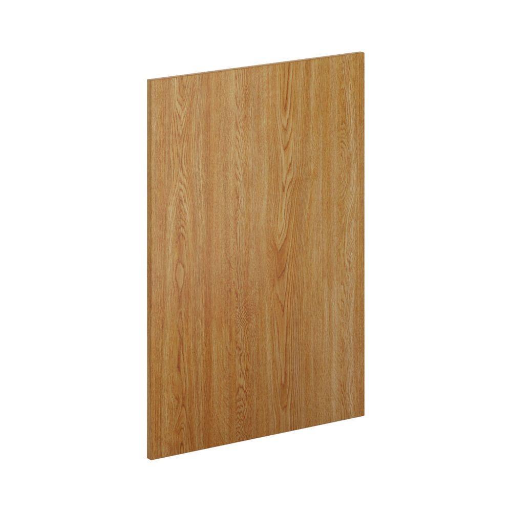 23.25 in. x 34.5 in. x 0.125 in. Kitchen Cabinet Flush-Fit End Panel in Warm Oak (2-Pack)