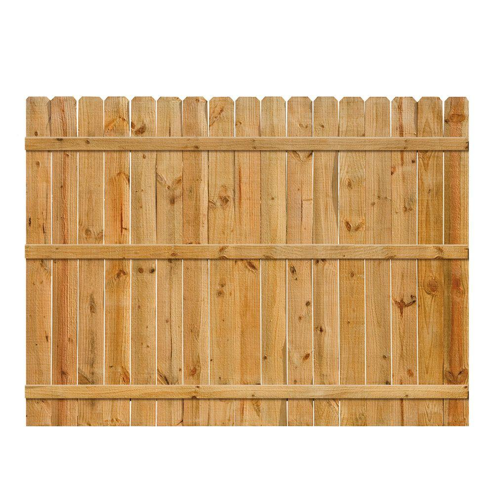 6 ft h x 8 ft w pressure treated pine shadowbox fence. Black Bedroom Furniture Sets. Home Design Ideas