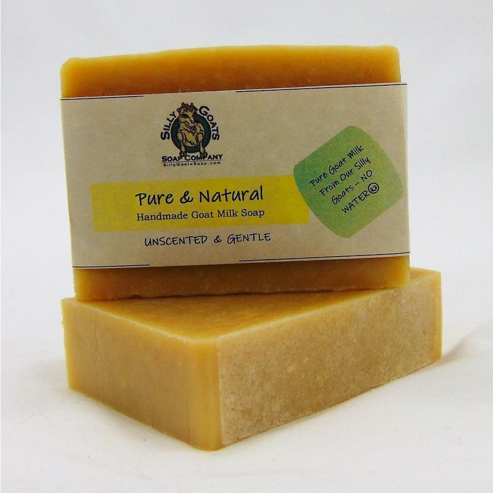 5 oz. Pure & Natural (Unscented) - Handmade Goats Milk Bar Soap