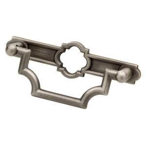 Emblem 3 in. (76mm) Heirloom Silver Bail Drawer Pull