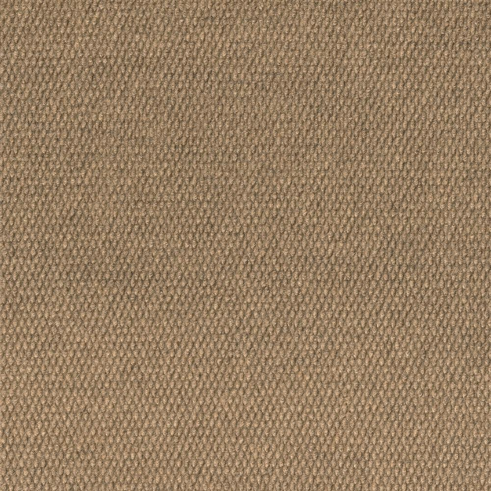 Foss Premium Self-Stick Chestnut Hobnail Texture 18 in. x 18 in. Indoor and Outdoor Carpet Tile (16 Tiles/Case)