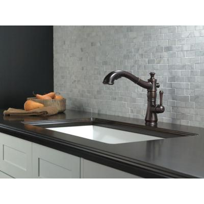 Cassidy Single-Handle Pull-Out Sprayer Kitchen Faucet In Venetian Bronze