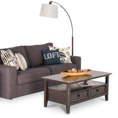 Amherst Dark Brown Storage Coffee Table