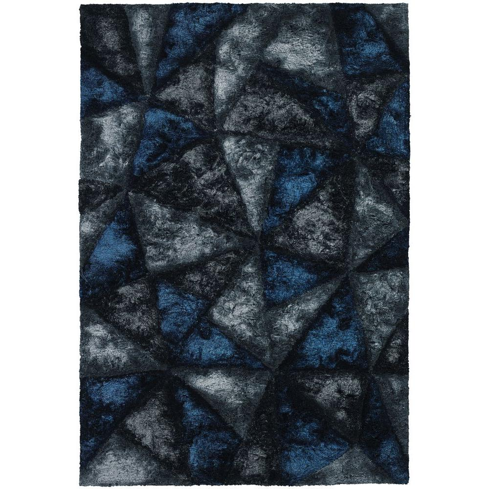 Chandra Flemish Blue Grey Charcoal 8 Ft X 11 Indoor Area