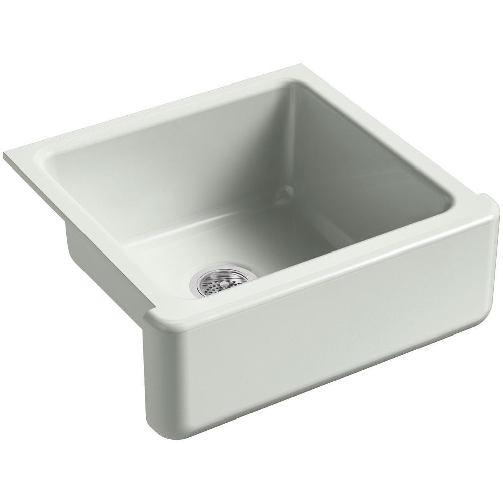 Kohler Whitehaven Farmhouse A Front Cast Iron 24 In Single Basin Kitchen Sink