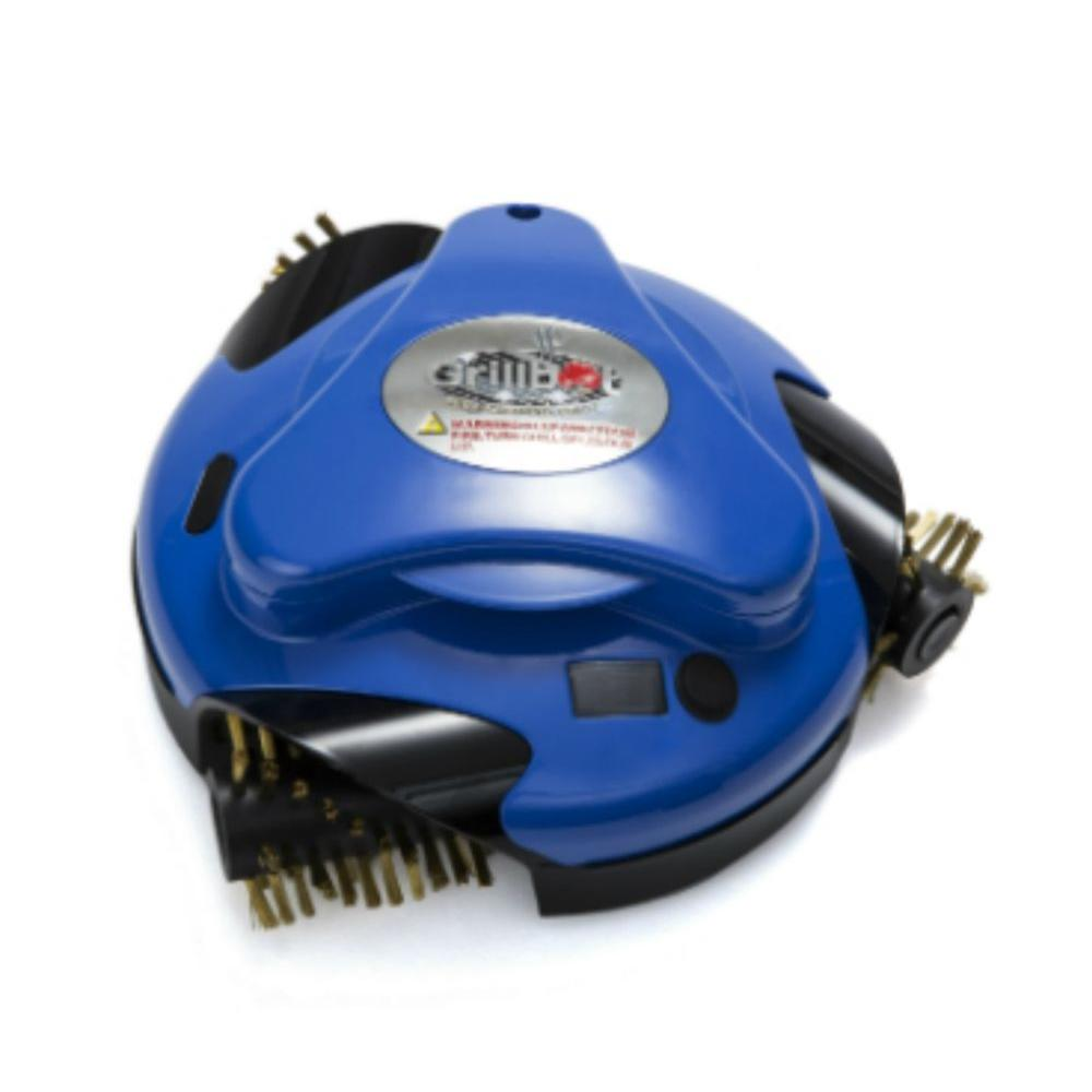 Blue Automatic Cleaning Robot with Installed Brass Replacement Brushes