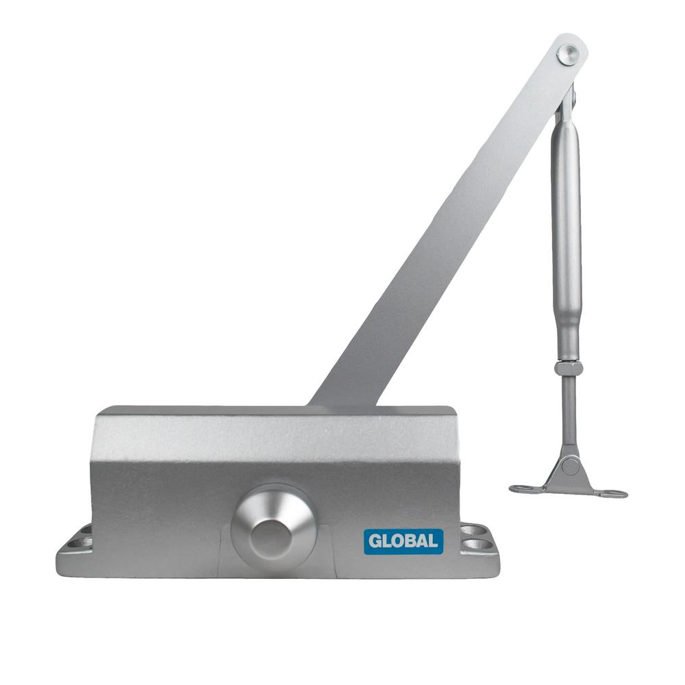 Aluminum Size 4 Commercial Light Duty Door Closer with Parallel Arm
