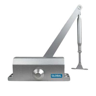 Aluminum Size 4 Commercial Light Duty Door Closer with Parallel Arm Bracket