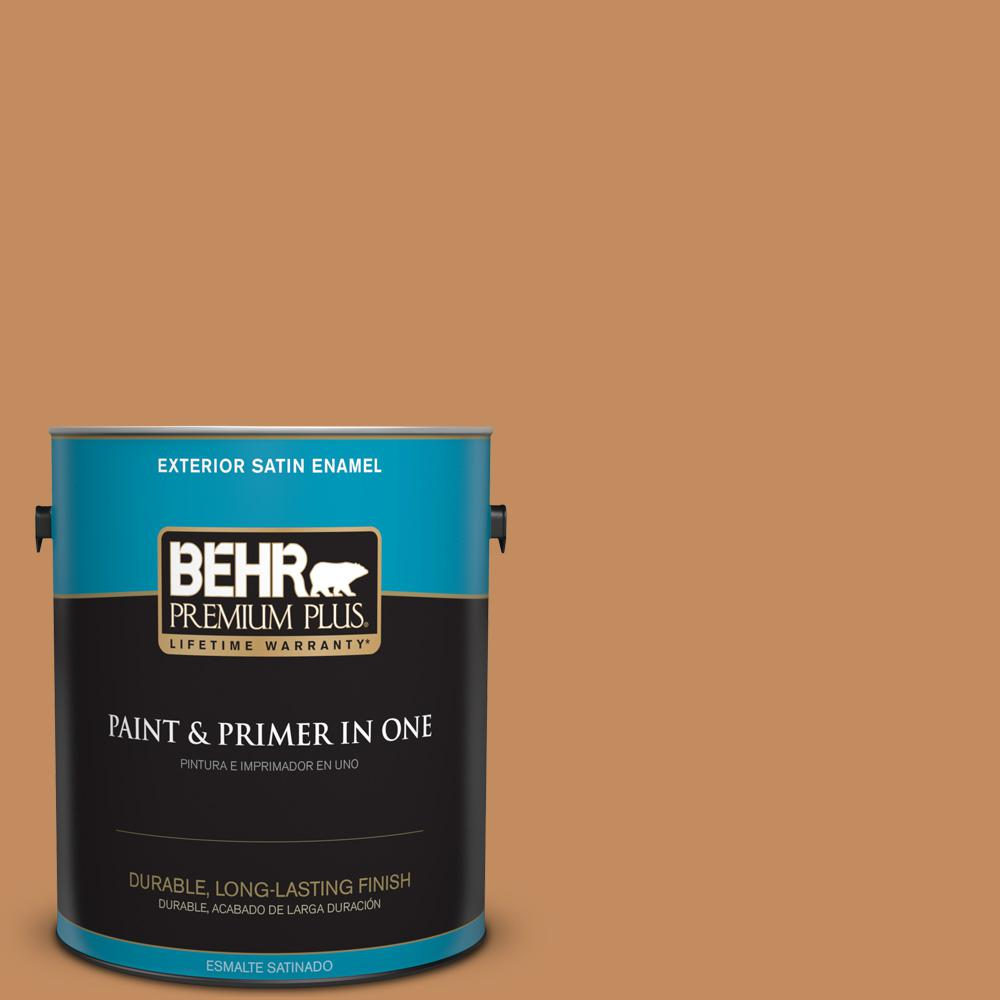 1 gal. #PPU3-13 Glazed Ginger Satin Enamel Exterior Paint
